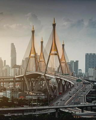 Bhumibol Bridge_Bangkok_021021A